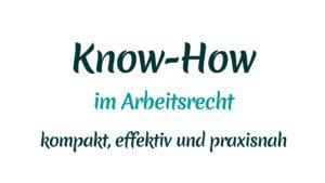 Know-How im Arbeitsrecht mit Heike Mareck